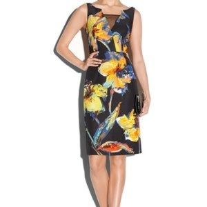 MILLY Women's Black Pop Art Floral Ella Dress